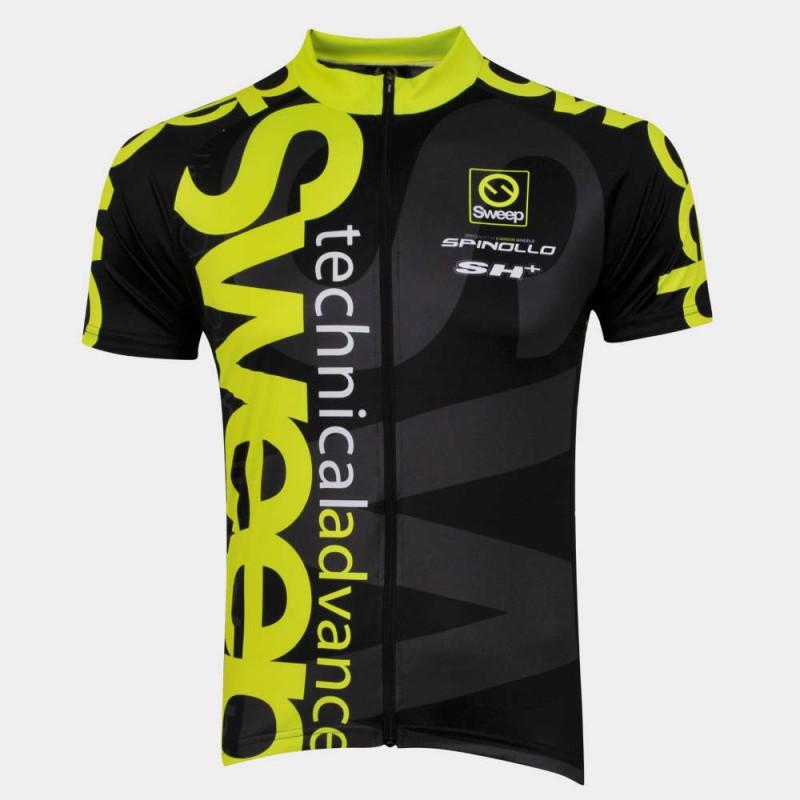 e0d9e8f1e Sweep :: Cyklistický dres CLASIC CYKLO-D021 černo/žlutý fluo