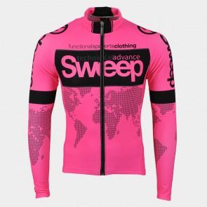 Cyklistický dres ELITE CYKLO-D017 s dlouhým rukávem růžový fluo a6f5a1aa56