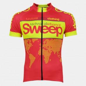 Cyklistický dres CLASIC CYKLO-D031 červeno žlutý fluo ca5cea4bdc