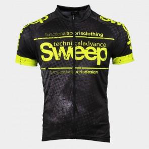 Cyklistický dres CLASIC CYKLO-D040 černo žlutý fluo c5bbcc58d1